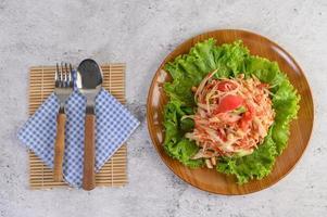 thailändsk papayasallad