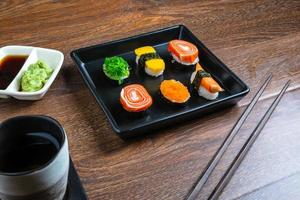 sushi med pinnar