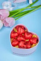 godis med blommor