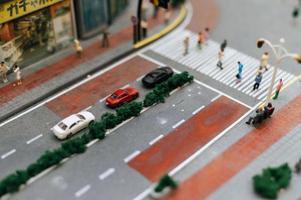 närbild av miniatyrtrafik foto