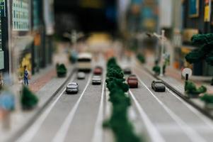 miniatyr leksak stad landskap foto