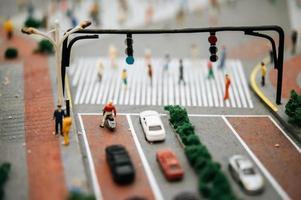 närbild av miniatyrleksakgata foto