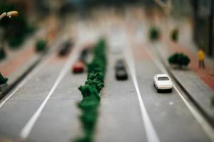 närbild av miniatyrbilar foto