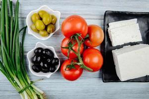 ovanifrån av matlagningsingredienser