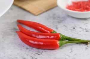 närbild av röd paprika