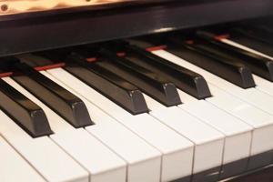 närbild av ett pianotangentbord