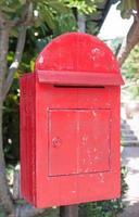 röd brevlåda foto