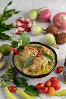 grön curry kyckling