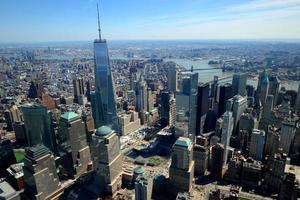 New York City, NY, 2020 - Flygfoto över World Trade Center