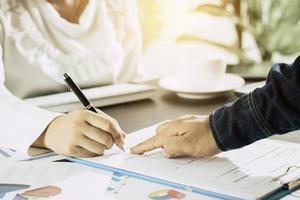 budget och affärsplanering foto