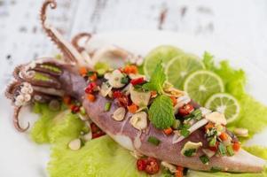 kryddig citronbläckfisk