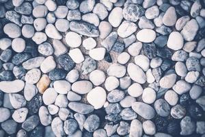 vita och svarta stenar