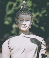 samphao lom, thailand, 2020 - buddha staty i en trädgård foto