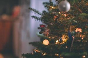 närbild av juldekor
