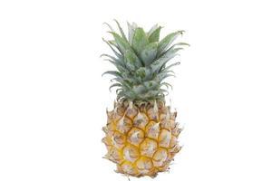 ananasfrukt isolerad på vit bakgrund foto