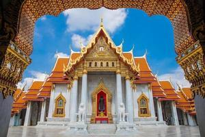 bangokok, thailand, 2020 - wat benchamabophit, dusit wanaram foto