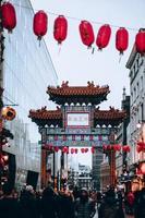 London, Storbritannien, 2020 - Kina stad i London foto