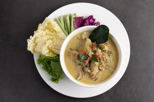 grön kyckling curry