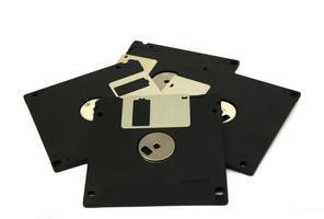 disketter på vitt foto