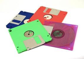 färgglada disketter foto