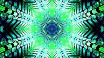blinkande grönt och blått stjärnformat konstverk för bakgrundsbild för tapetdesign 3d foto