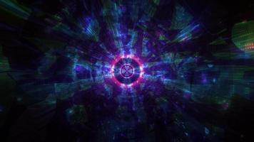 cool mörk tech tunnel 3d illustration bakgrund tapet design konstverk foto