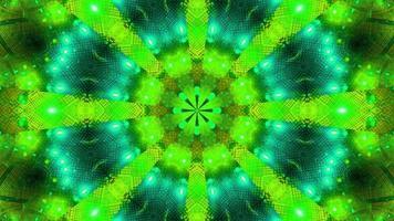 grön blå blinkande kalajdoskop 3d bakgrundsbild tapet foto