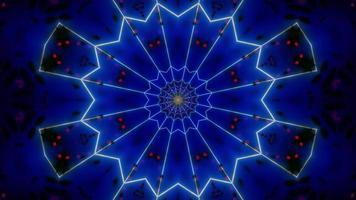 glödande blå abstrakt neon 3d illustration bakgrund tapet design konstverk foto