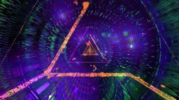glödande abstrakt triangel trådram 3d illustration bakgrund tapet design konstverk foto