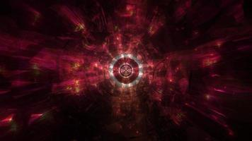 omgivande cool mörk tech hål tunnel 3d illustration bakgrund tapet design konstverk foto