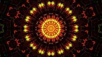 blinkande abstrakt blomma gul och röd 3d illustration bakgrund tapet design konstverk foto