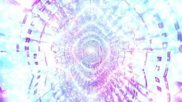 glödande ljus abstrakt neon tunnel 3d illustration bakgrund tapet design konstverk foto