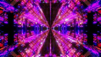 futuristisk glödande cool science fiction tunnel 3d illustration bakgrund tapet design konstverk foto