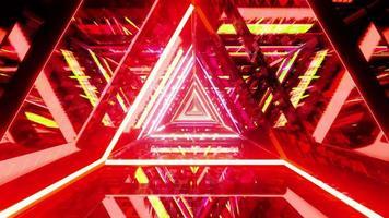 röd gul triangel tunnel illustration illustration bakgrundsbild tapet design foto