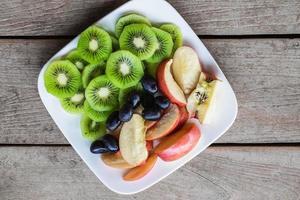 ovanifrån av frukt foto