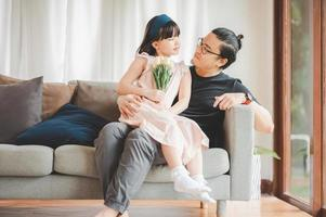 dotter och far foto