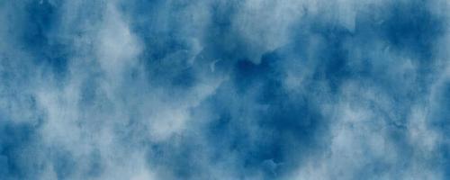 abstrakt bakgrund för blåttvattenfärg, illustration, textur för design foto
