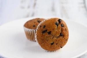 bananmuffins blandade med chokladflis