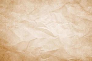 brunt skrynkligt papper foto