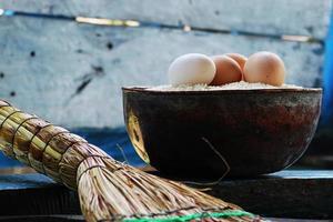 ägg i en skål foto