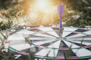 dart på bullseye foto