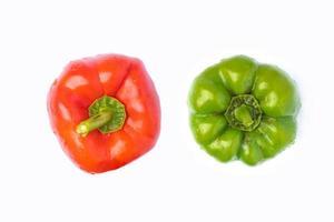 röd och grön paprika foto