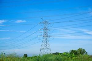 högspänningstorn i Thailand foto