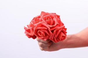 röd rosbukett foto