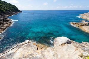 havet vid koh ta chai i Thailand foto