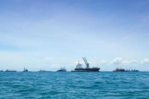 stort lastfartyg foto