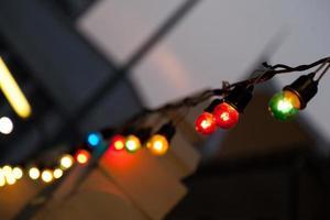 små glödlampor foto