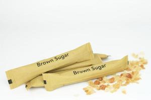 rått brunt socker