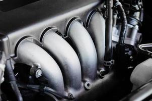 bilmotor på nära håll foto