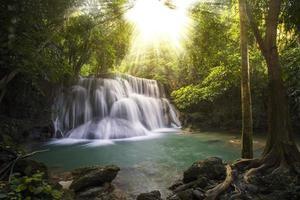vattenfall i en park foto